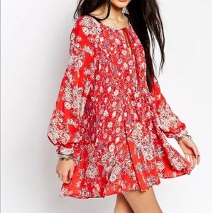 NWT Free People Lucky Loosey Swing Dress